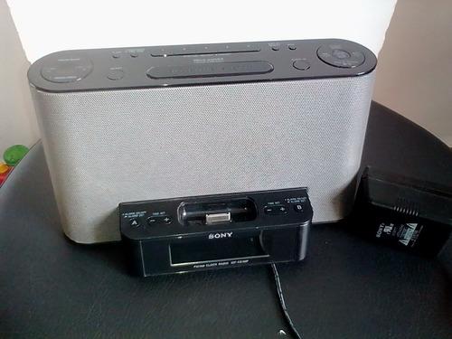 sounddock sony , fm/am alarma despertador, puerto para ipod