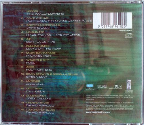 soundtrack - godzilla the album - jimmy page - jamiroquai -