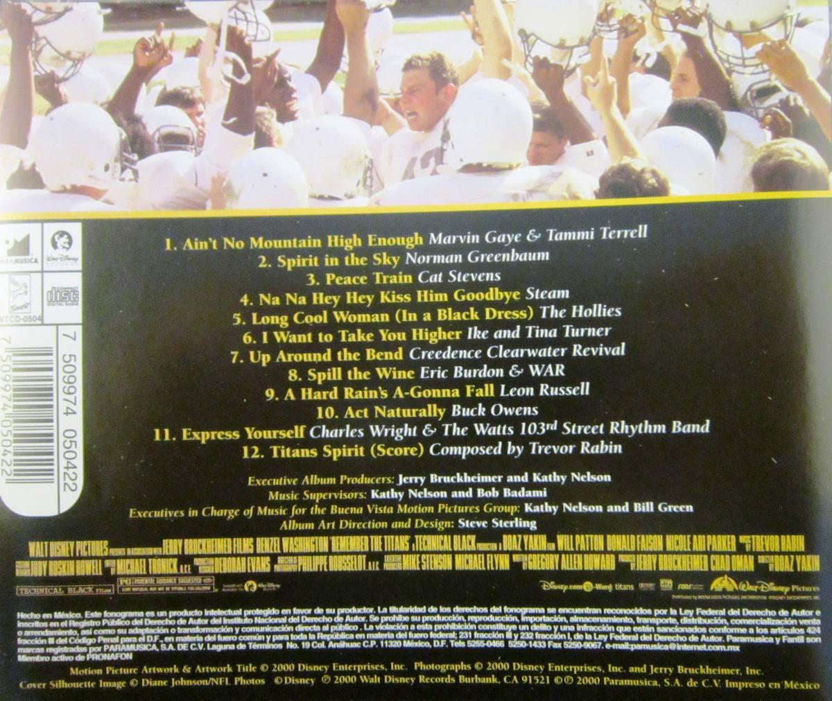 Soundtrack Remember The Titans 99 00 En Mercado Libre