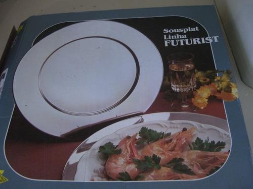 souplast futurist 6 pratos de aço inox novos.(lacrados)