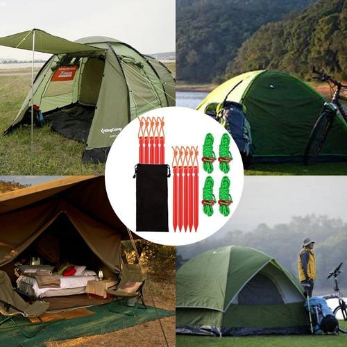 10 piezas de estacas de acero galvanizado para carpa y 1 mazo de goma para acampar al aire libre SourceTon Juego de 11 estacas de jard/ín de alta resistencia para carpa con mazo de goma