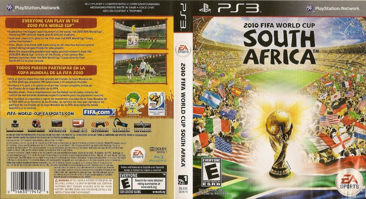South Africa 2010 Fifa World Cup Ps3 Fisico Original - $ 660,00