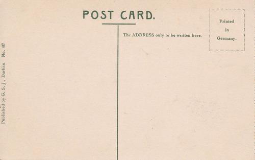 south africa antigua postal fotografia the bluff durban