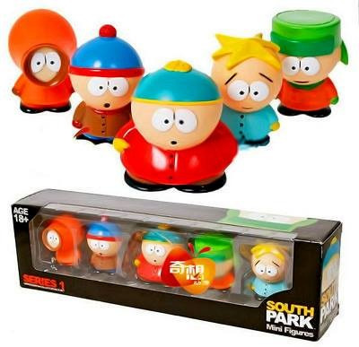 south park mini figuras set de seis,