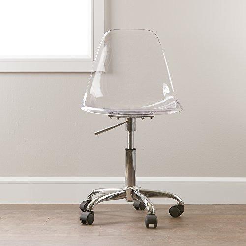 south shore silla de oficina de acrílico transparente con r