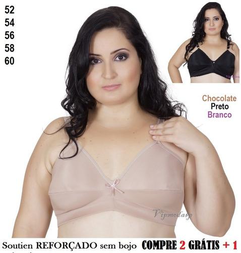 79987e406 Soutien Sutiã Plus Size 56 58 60 Reforçado Especial Grande - R  59 ...