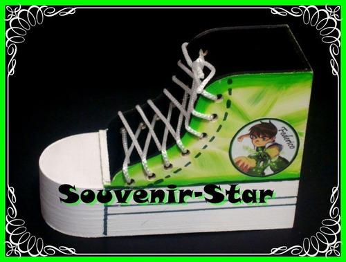 souvenir 10 portalapices lapiceros originales zapatillas