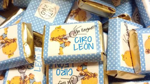 souvenir 2 chocolate personalizado en bolsita con brillitos