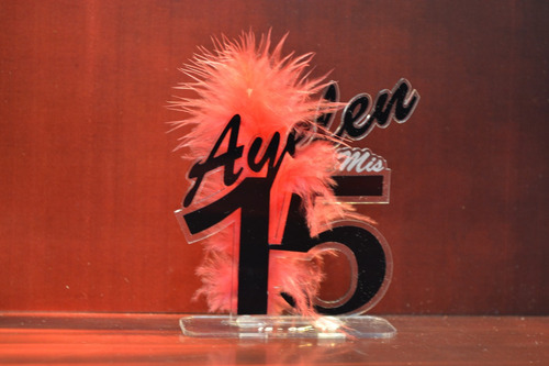 souvenir acrilico libelula 15 40 50 flor cumple centro