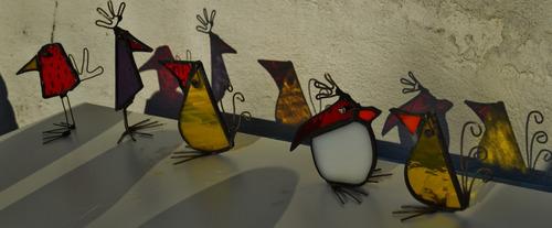 souvenir, adorno, vitraux tiffany - pájaros