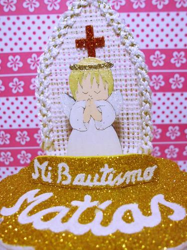 souvenir bautismo, personalizado, 9 cm. de alto. cotillon
