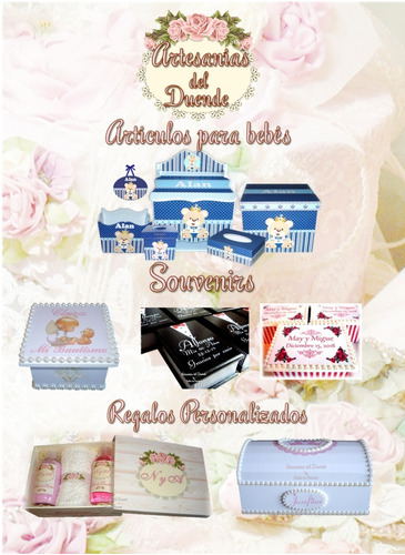 souvenir bodas 15 años bautismos caja p/ bombones o jabones