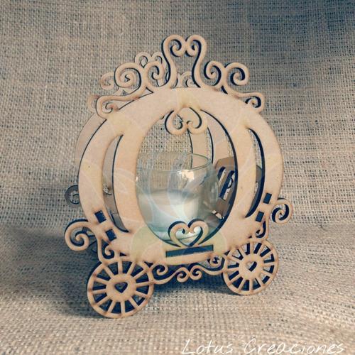 souvenir carroza portavela/ 15 años -corte láser-