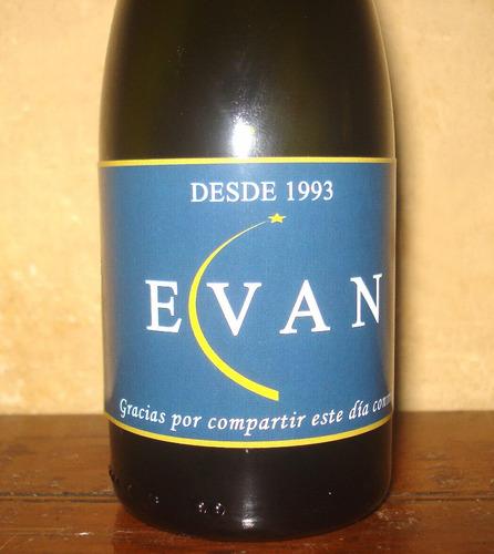 souvenir champagne chandon personalizado con nombre