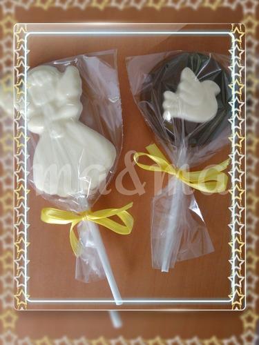 souvenir comunion chupetin de chocolate ideal para candy bar