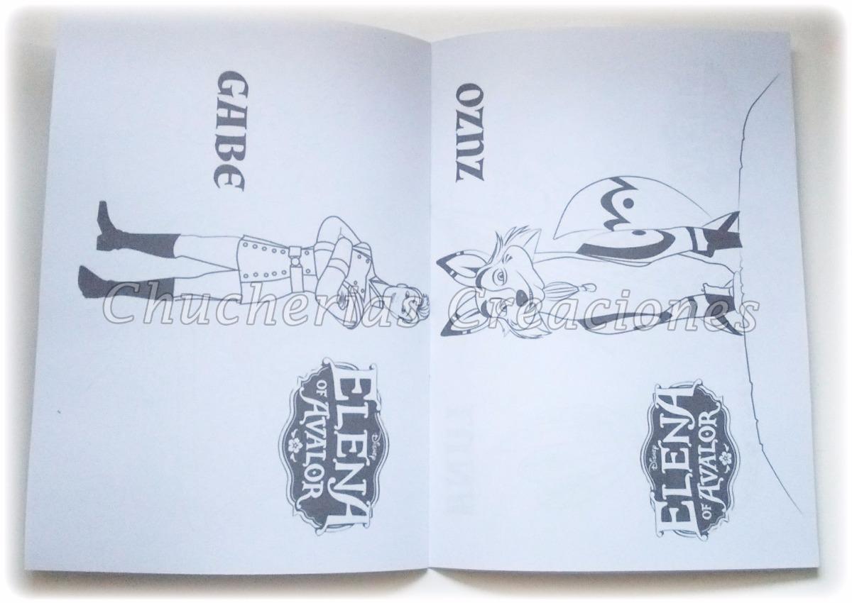 Souvenir Elena De Avalor 30 Cuadernos Para Colorear 15x21cm