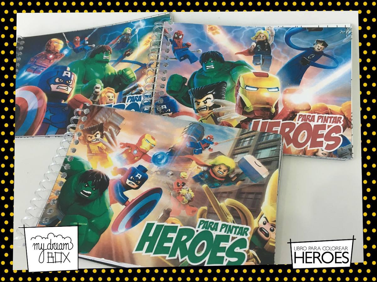 Souvenir Evento Libro Colorear Personaliza Heroe Lego Avenge - $ 735 ...