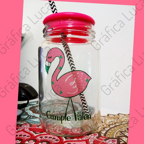 souvenir frasco vaso personalizado unicornio frases 15 años