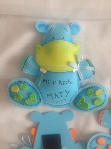 souvenir hipopótamo primer añito