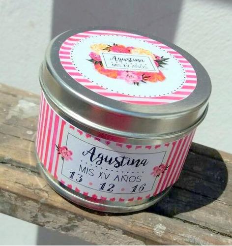 souvenir latas personalizadas 15 años bautismo primer año