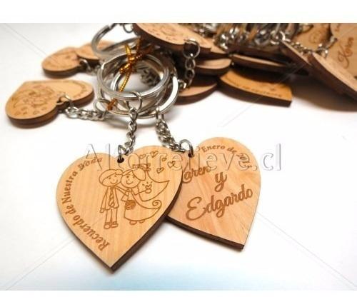 souvenir llavero bautimso boda personalizados madera