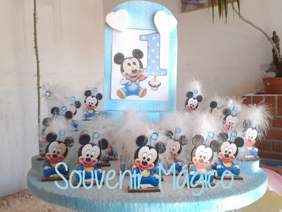 Souvenir Mickey Bebé Fibrofacil. Entrega Inmediata!!! 25 Uni ...