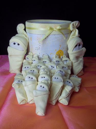 souvenir nacimiento bebe con manta x 20