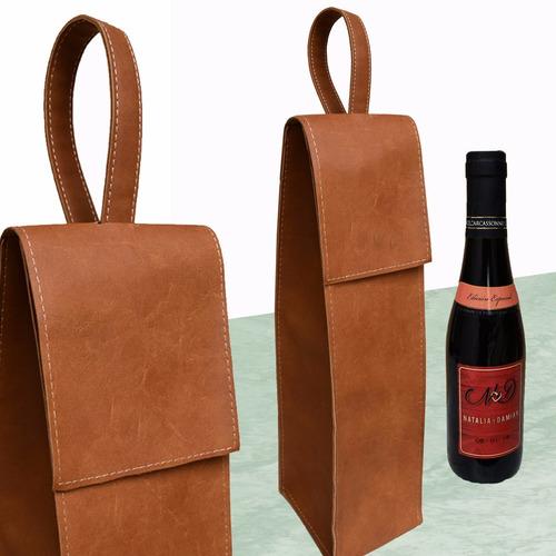 souvenir personalizado bolso / vino eventos