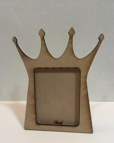souvenir portaretrato corona rey varon de fibrofacil