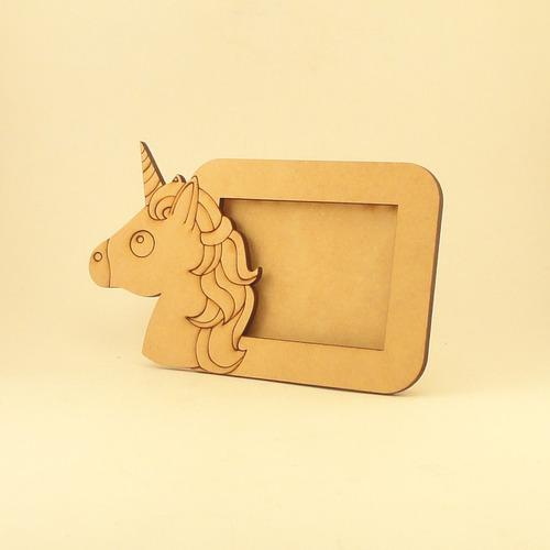 souvenir portaretrato unicornio fibrofácil foto 7 x 5 cm