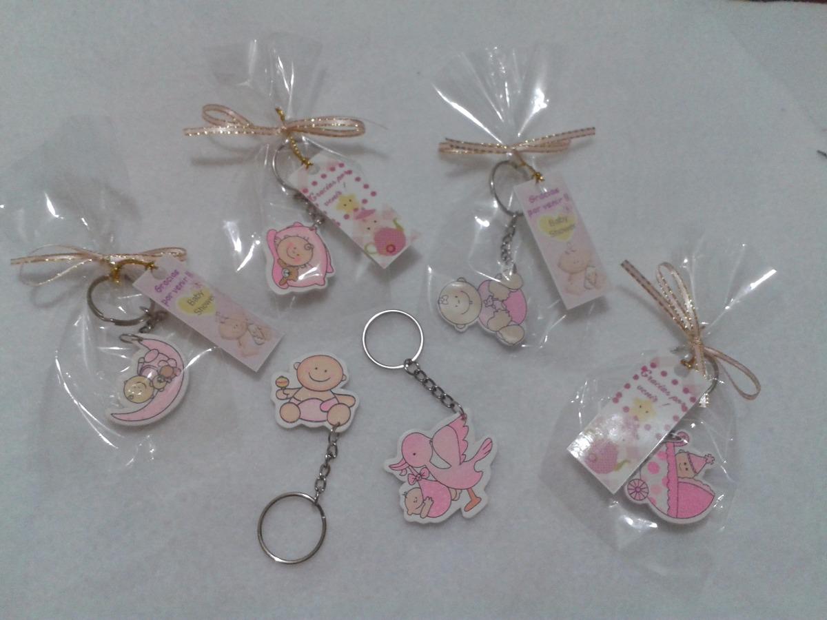 Souvenirs Para Baby Showers Nena ~ Souvenir recuerdo baby shower llavero niña bolsita y tarjeta