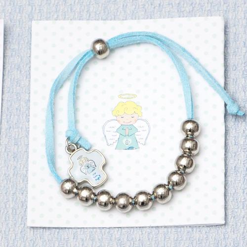 souvenir salve regina bautismo nene ángel con estampa