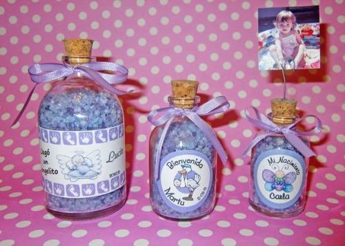 souvenires botellitas con sales 100cc