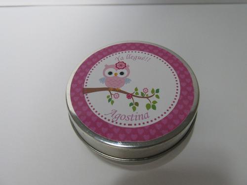 souvenirs 10 lata pastillero+1 jaboncitos c/u nacimiento
