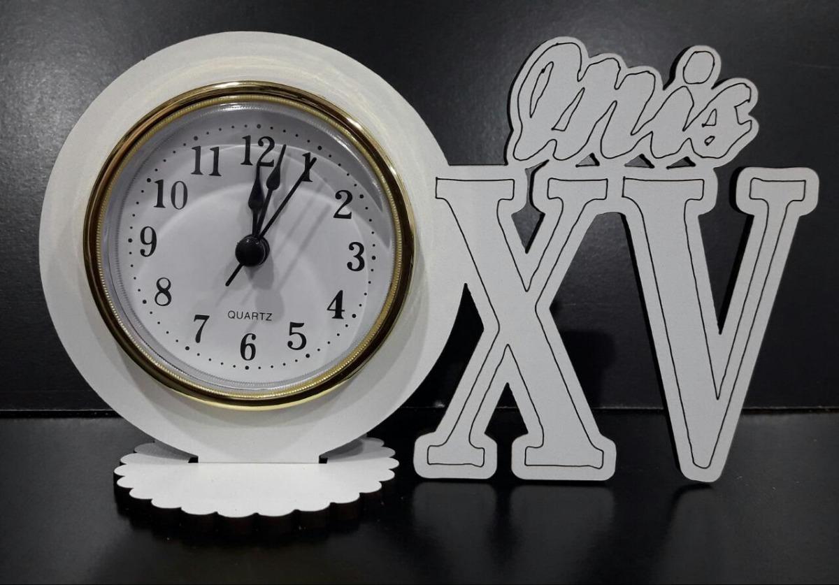 Souvenirs 15 Años Con Reloj Y Nros Romanos Para Personalizar 80
