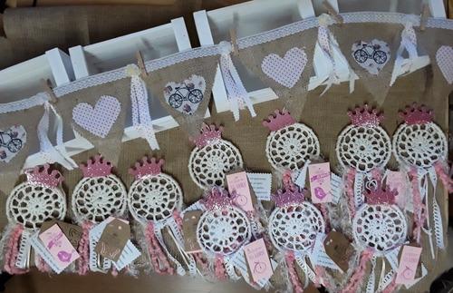 souvenirs atrapasueños personalizados 10 cm aro cumple, baby