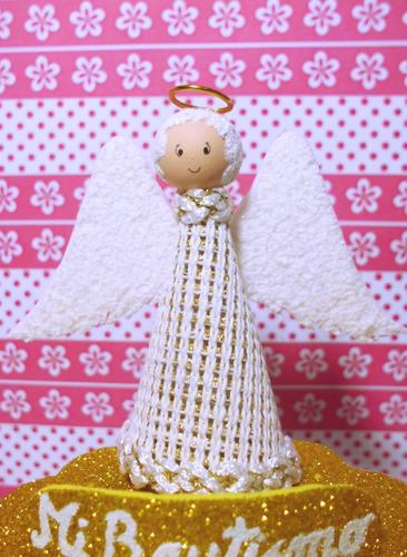 souvenirs bautismo personalizado, 8 cm. de alto. cotillon