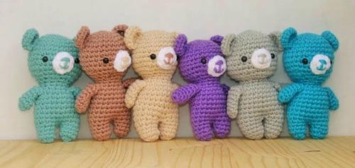 souvenirs bebé niños tejidos a crochet primer año babyshower