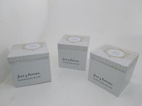 souvenirs boda  15 años cumpleaños original cajas x25 mas ce