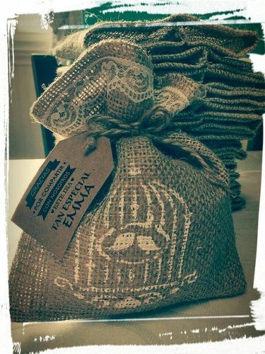souvenirs bolsitas de arpillera 15 x 20 cm x 10 unidades