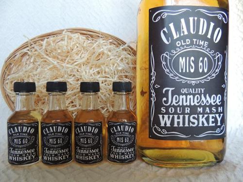 souvenirs botellitas de whisky personalizadas x 10 unidades