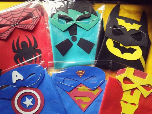 souvenirs capas superheroes y antifaz the avengers