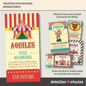 0b2a544db8fe8 Tarjetas De Invitacion De Payasos Infantiles en Mercado Libre Argentina