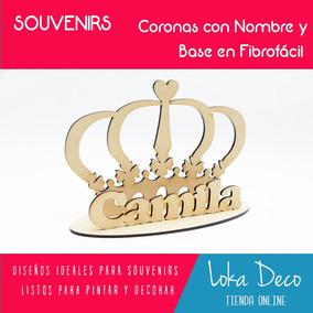 Souvenir De Fibrofacil Corona Para Pintar Souvenirs Para Tu