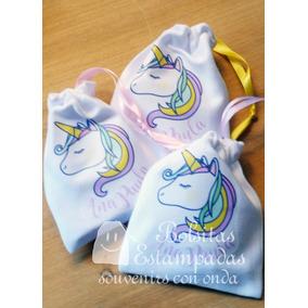 8bb64f297 Bolsitas De Tela Unicornio - Souvenirs para Cumpleaños Infantiles en ...