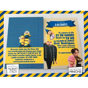 4d06ed24bdf0d Invitaciones Minion en Mercado Libre Argentina