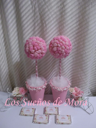 souvenirs-centros de mesa-arbolitos-topiarios porcelana fria