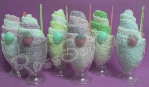 souvenirs copas heladas, sunday en toalla facial!!