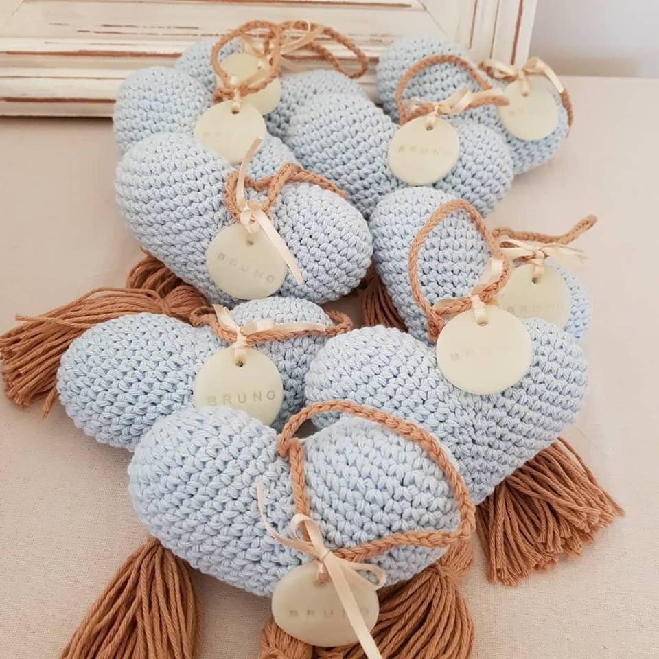 Souvenirs Corazones Tejidos Crochet Bautismos Baby Shower - $ 50,00 ...
