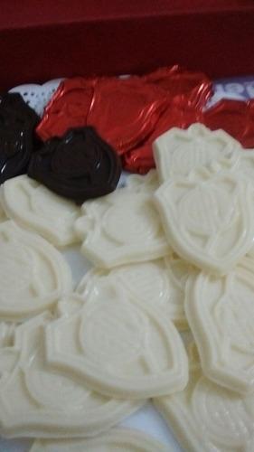souvenirs cuadros de futbol en chocolate
